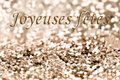 Greeting card for holidays happy in french happy on glitter background Stock Photography