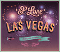 Greeting card from las vegas nevada vector illustration Stock Photo