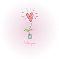 Greeting card love greetings vector illustration Stock Image