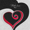 Greeting card with love valentines day vector Stock Photo