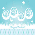 Greeting card ornamental eggs Stock Images