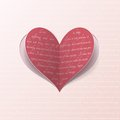 Greeting card with paper heart Royalty Free Stock Photography