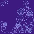 Greeting card in purple color Stock Photos