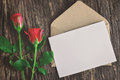 Greeting card with red roses Royalty Free Stock Photo