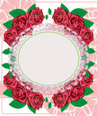 Greeting card with roses wedding Royalty Free Stock Photos