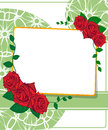 Greeting card with roses wedding Stock Photography