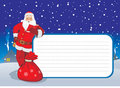 Greeting card with Santa Royalty Free Stock Photography