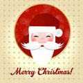 Greeting Card With Santa Claus Royalty Free Stock Photos