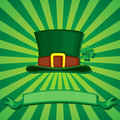 Greeting card of st patrick s day with a hat Stock Images