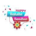Greeting Card with Text for Raksha Bandhan.