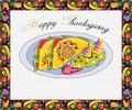 Greeting Card-Thanksgiving Stock Photos