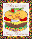 Greeting Card-Thanksgiving Royalty Free Stock Images