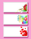 Greeting card for valentine s day as frames in baguette Royalty Free Stock Photos