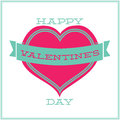 Greeting card for valentines day minimalism gift lovers happy Royalty Free Stock Photography