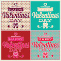 Greeting card for valentines day set and seamless gift lovers happy Royalty Free Stock Image