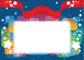 Greeting card, vector template background Stock Photo