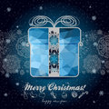 Greeting card with winter holidays for your design background elements of geometric triangles christmas and new year theme Royalty Free Stock Image