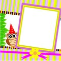 Greeting cards owl Stock Photos