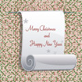 Greeting christmas and new year card with wishes Royalty Free Stock Photo