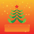 Greeting with christmas tree colorful illustration for your design Royalty Free Stock Photography