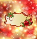 Greeting elegant card, Christmas balls Stock Photo