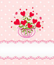 Greeting flower heart card Royalty Free Stock Photo