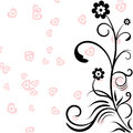 Greeting frame with red hearts and floral pattern background for Valentines Days
