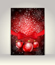 Greeting template merry christmas and happy new year Royalty Free Stock Photography
