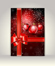 Greeting template merry christmas and happy new year Stock Photography