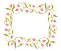 Greetings card with floral pattern. Stock Photos
