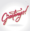'Greetings' hand lettering (vector) Stock Photography