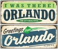 Greetings from Orlando Florida vintage signboard