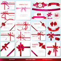 Greetings vector set of greeting cards Stock Photography