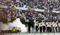 Greg Biffle gana Pennsylvania 500 Imagenes de archivo