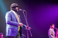 Gregory porter at kaunas jazz lithuania april grammy winner singer performs the stage of festival Royalty Free Stock Image