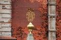 GREILLENSTEIN, AUSTRIA: end of a obelisk shaped like a monogram