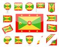 Grenada Flag Vector Set