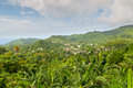 Grenada the island of is the largest island in the grenadines panoramic view Stock Images