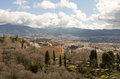 Grenada the view from the alhambra castle in in granada Royalty Free Stock Photos