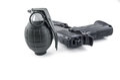 Grenade and Handgun Royalty Free Stock Photo