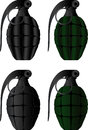 Grenades set of vector illustration Stock Images