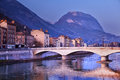 Grenoble in isere france with the alps mountains Stock Photo