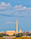 Grenzsteine im Washington DC Stockfoto