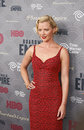 Gretchen mol glamorous the actress who plays the role of gillian darmody arrives on the red carpet for the new york city premiere Stock Image