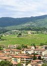 Greve in chianti tuscany italy panoramic view at summer Stock Images