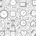 Grey background of hours a vector illustration Stock Image