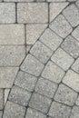 Grey brick paving background pattern Royalty Free Stock Photo