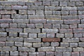 Grey brick wall backgrounds Royalty Free Stock Photo