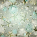 Grey brightness background with christmas stars an and snowflakes vector Stock Image