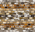 Grey brown mosaic wall Stock Images